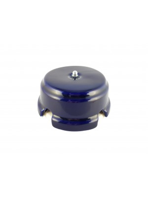 Коробка распаячная монтажная фарфоровая, цвет azzurra (лазурный), серебристая фурнитура