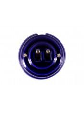 Выключатель фарфоровый двухрычажковый, цвет azzurra (лазурный), тумблер бронза