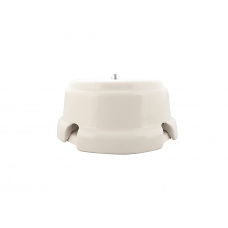 Коробка распаячная монтажная фарфоровая, цвет bianco (белый), серебристая фурнитура