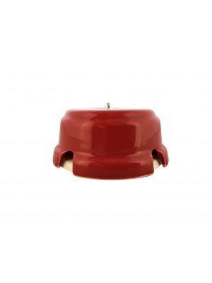 Коробка распаячная монтажная фарфоровая, цвет granato (гранатовый), серебристая фурнитура