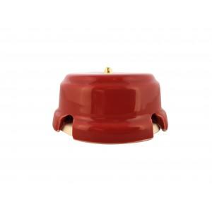 Коробка распаячная монтажная фарфоровая, цвет granato (гранатовый), золотистая фурнитура