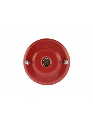 Розетка телевизионная оконченная фарфоровая, цвет granato (гранатовый), серебристая фурнитура