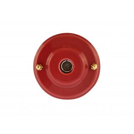 Розетка телевизионная оконченная фарфоровая, цвет granato (гранатовый), золотистая фурнитура