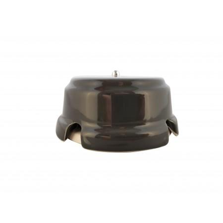 Коробка распаячная монтажная фарфоровая, цвет grigio (серый), серебристая фурнитура