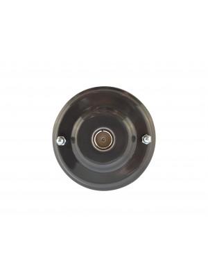 Розетка телевизионная оконченная фарфоровая, цвет grigio (серый), серебристая фурнитура