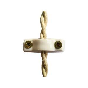 Универсальный фиксатор (крепеж) для электрических кабелей любого типа, цвет bianco (белый)
