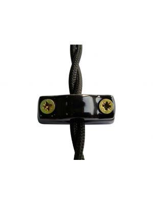 Универсальный фиксатор (крепеж) для электрических кабелей любого типа, цвет nero (черный)