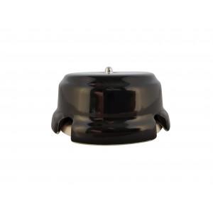 Коробка распаячная монтажная фарфоровая, цвет nero (черный), серебристая фурнитура