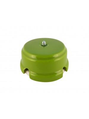 Коробка распаячная монтажная фарфоровая, цвет pistacchio (фисташковый), серебристая фурнитура