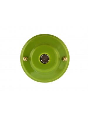 Розетка телевизионная оконченная фарфоровая, цвет pistacchio (фисташковый), золотистая фурнитура