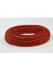 Провод витой красный шелк 2х2,5
