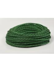Провод витой зеленый шелк 3х1,5