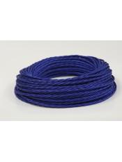 Провод витой синий шелк 3х2,5