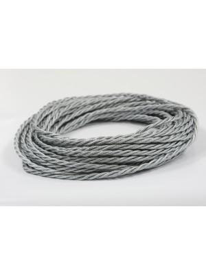 Провод витой серебристый шелк 2х1,5
