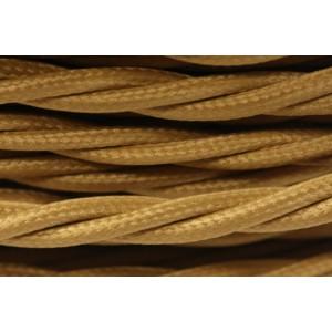Провод витой песочное золото 2х1,5