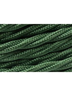 Провод витой зеленый шелк 3х2,5