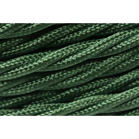 Провод витой зеленый шелк 2х1,5