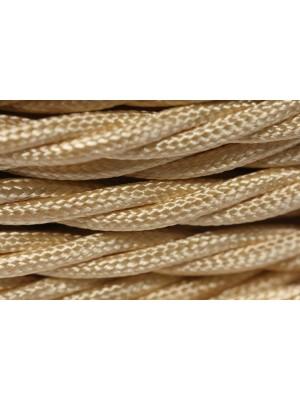 Провод витой песочный шелк 3х1,5