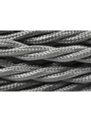 Провод витой серебристый шелк 2х2,5