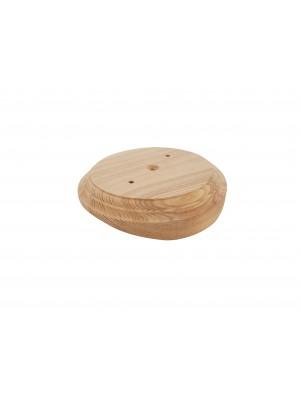 Рамка деревянная фигурная однопостовая малая (D-110mm) на бревно 220 мм